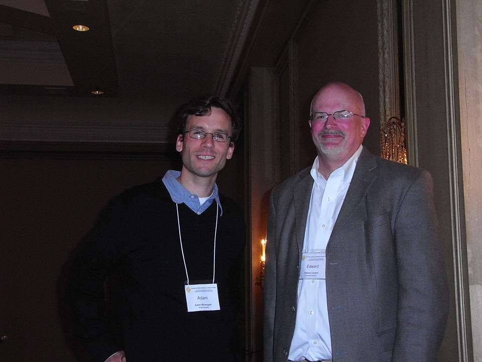 Dr. Coulson with 2010 Ben Stevens Fellow Storeygard