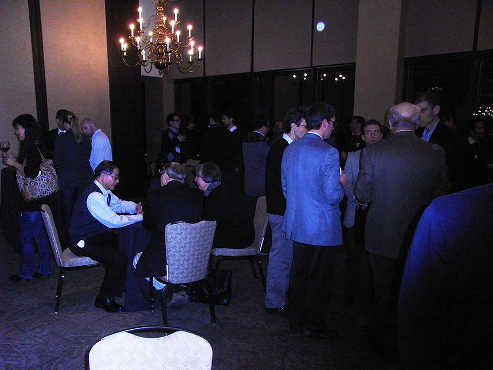 A partial view of the conference reception