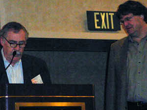 Dr. Strange receives his award from NARSC President John Quigley
