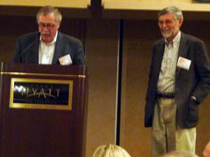 Dr. Teitz receives his award from NARSC President John Quigley